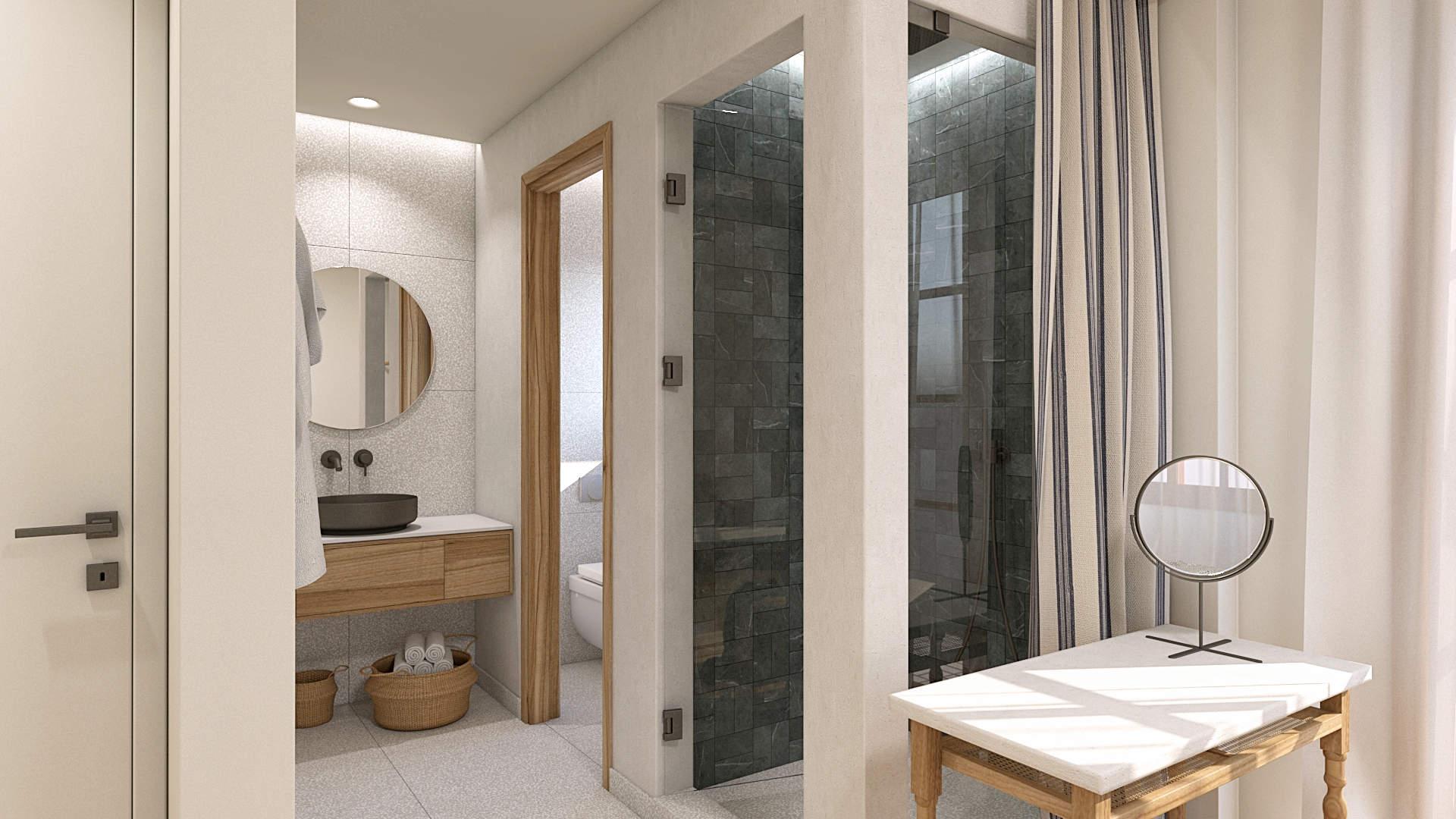 apartment renovation, master bedroom, bathroom addition, . Μερική αναδιαμόρφωση κατοικίας, προσθήκη μπάνιου σε υπνοδωμάτιο.