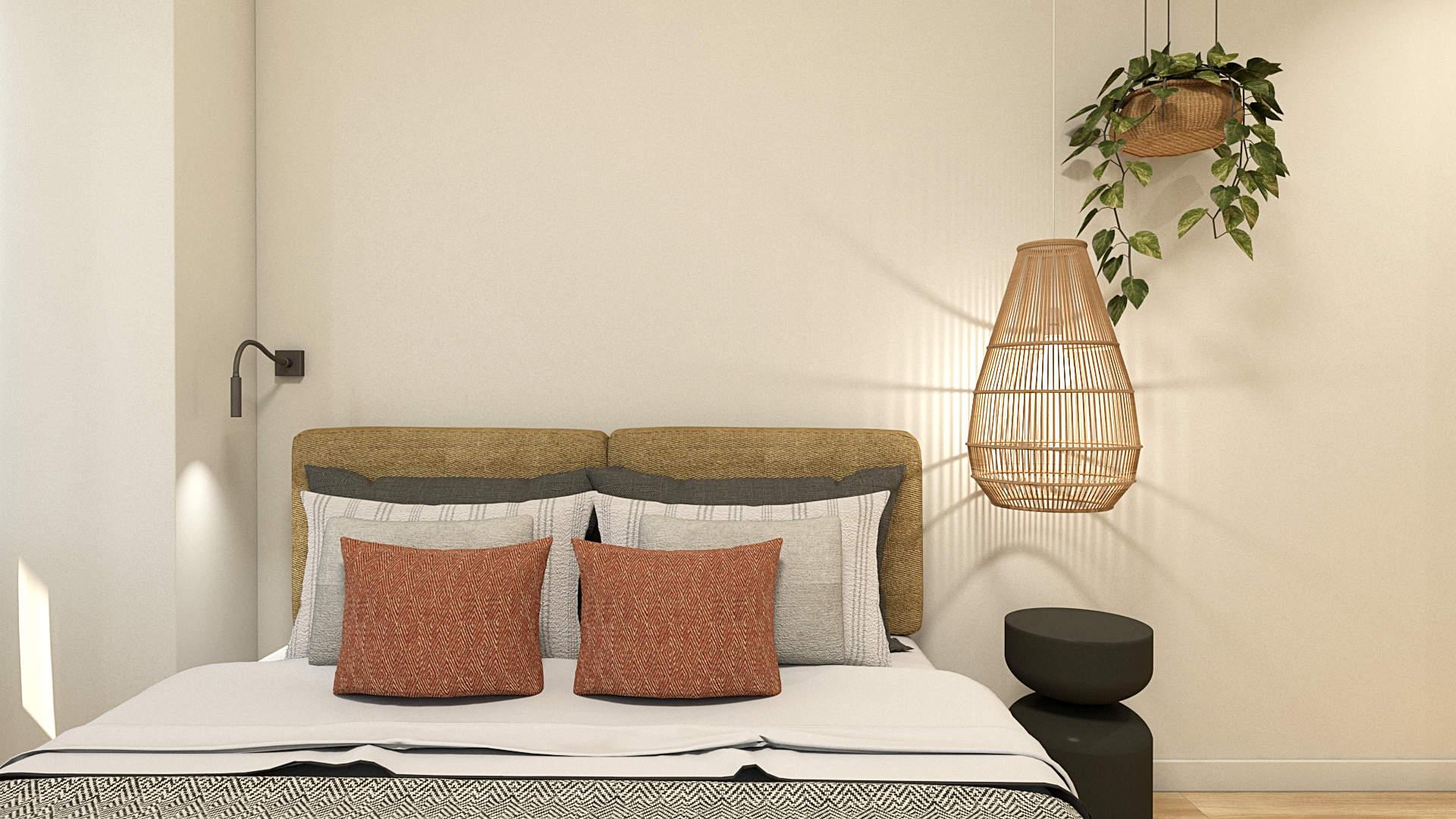 apartment renovation, interior design, bedroom . Μερική αναδιαμόρφωση κατοικίας, διακόσμηση, υπνοδωμάτιο.