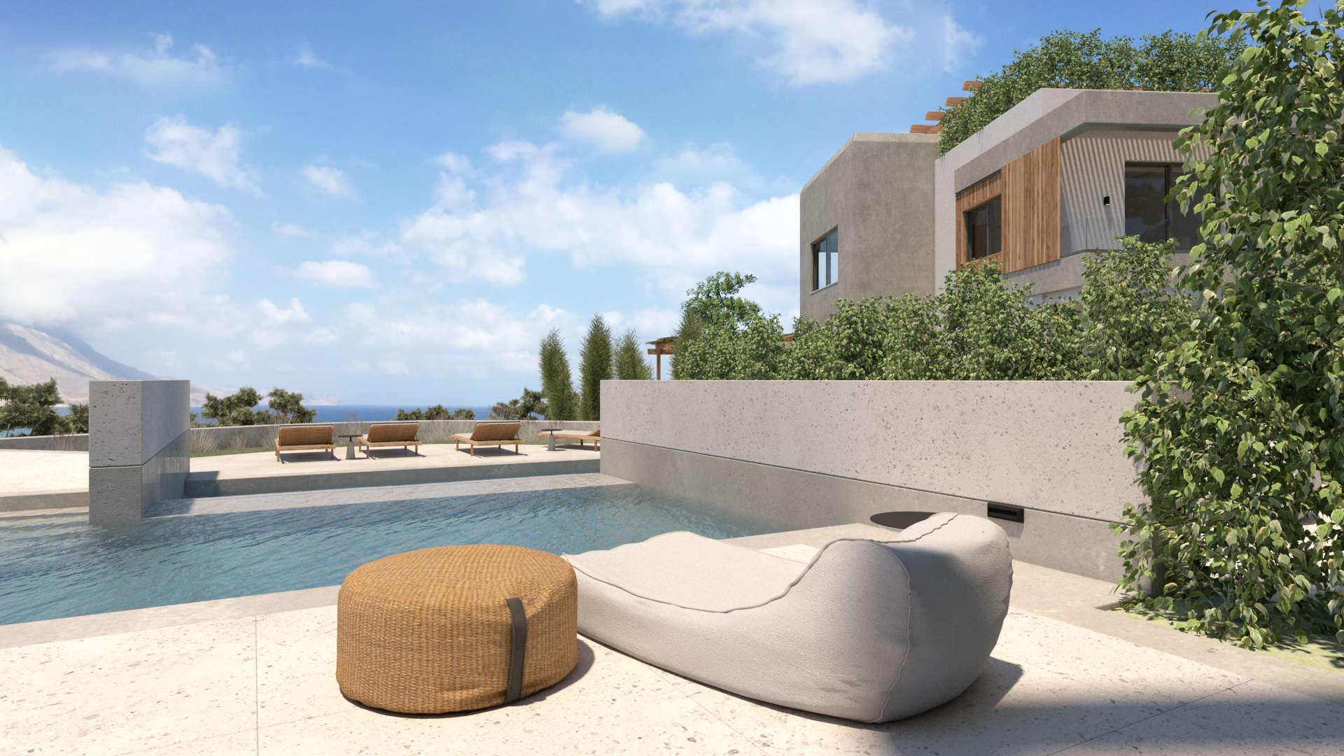 holiday homes renovation, outdoor spaces with pools, ανακαίνιση παραθεριστικικών κατοικιών, εξωτερικοί χώροι με πισίνες