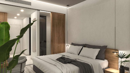 hotel room renovation, interior design, bedroom, ανακαίνιση δωματίου ξενοδοχείου, υπνοδωμάτιο